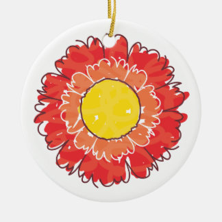 Beautiful Blossom Ornament - Red