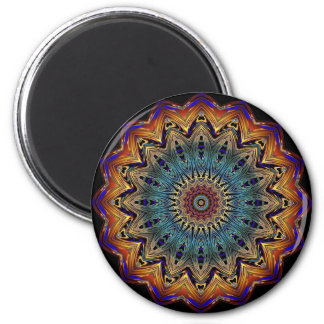 Beautiful Blue and Copper Mandala Magnet