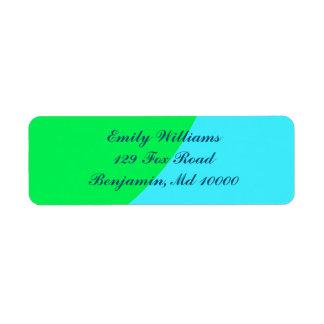 Beautiful Blue and Green Return Address Label