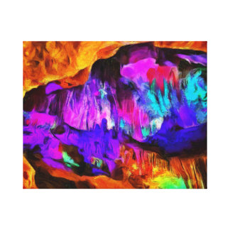 Beautiful blue and pink colors canvas print