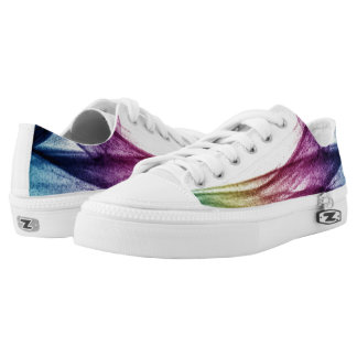 Beautiful Blue and purple Abstract smoke Low Tops