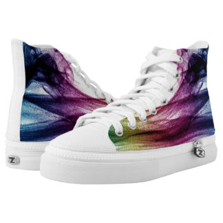 Beautiful Blue and purple Abstract smoke Printed Shoes