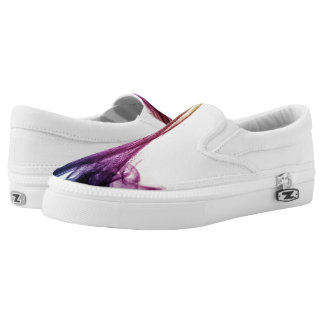 Beautiful Blue and purple Abstract smoke Slip On Shoes