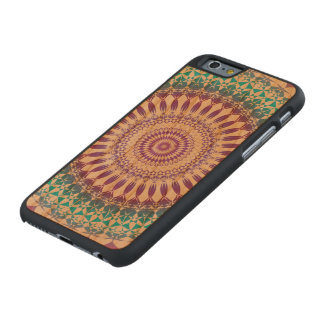 Beautiful blue and purple circle composed carved® cherry iPhone 6 case