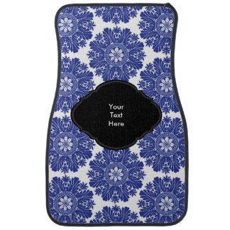 Beautiful Blue and White Baroque Pattern Car Mat