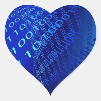 Beautiful Blue Binary Sticker