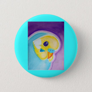 Beautiful Blue Budgie 6 Cm Round Badge
