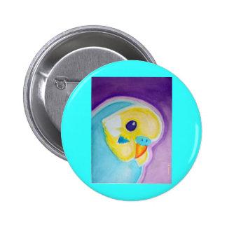 Beautiful Blue Budgie 6 Cm Round Badge