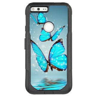 beautiful blue  butterflies OtterBox commuter google pixel XL case