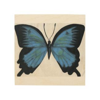 Beautiful Blue Butterfly Wood Print
