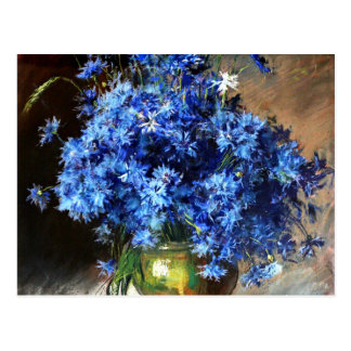 Beautiful Blue Cornflowers Postcard