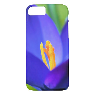 Beautiful blue crocus flower iPhone 7 case