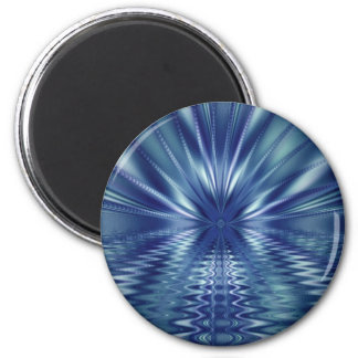 Beautiful Blue Fine Fractal Art Magnet