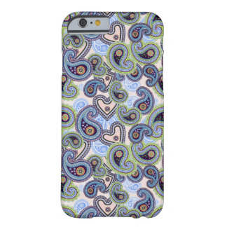 Beautiful Blue Floral Paisley Lace Barely There iPhone 6 Case