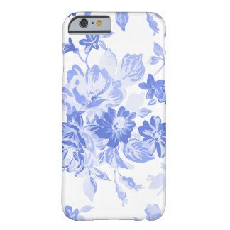Beautiful Blue Floral Pattern for Mother's Day Barely There iPhone 6 Case