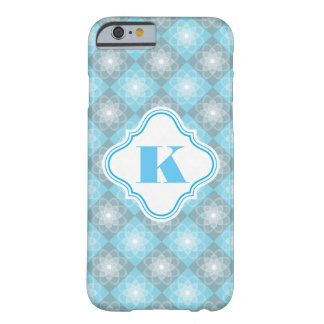 Beautiful Blue & Gray Checkers Barely There iPhone 6 Case