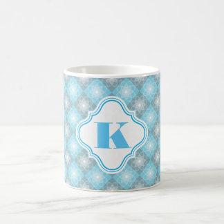 Beautiful Blue & Gray Checkers Coffee Mug