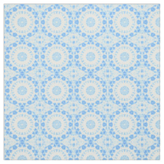 Beautiful blue kaleidoscope fabric