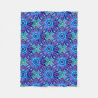 Beautiful Blue Mandala Fleece Blanket