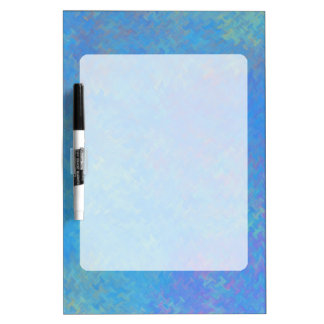 Beautiful Blue Marbled Paper Look Dry Erase Board