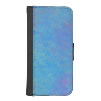 Beautiful Blue Marbled Paper Look iPhone SE/5/5s Wallet Case