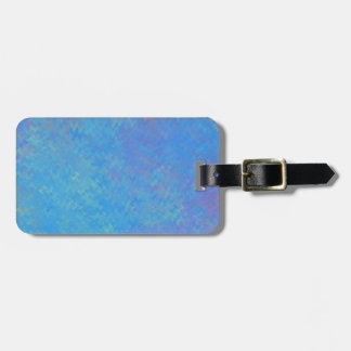 Beautiful Blue Marbled Paper Look Luggage Tag