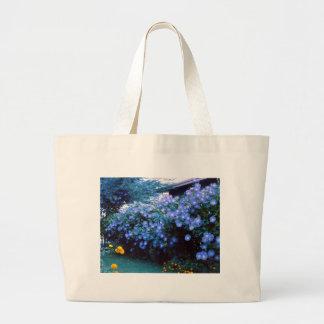 Beautiful blue morning glory flowers bag