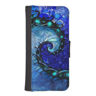 Beautiful Blue Nocturne of Scorpio Sapphire Spiral iPhone SE/5/5s Wallet Case