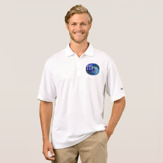 Beautiful Blue Nocturne of Scorpio Sapphire Spiral Polo Shirt