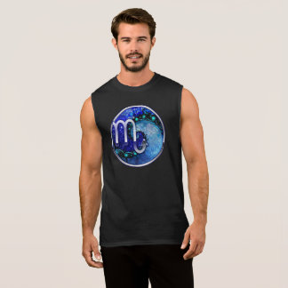 Beautiful Blue Nocturne of Scorpio Sapphire Spiral Sleeveless Shirt