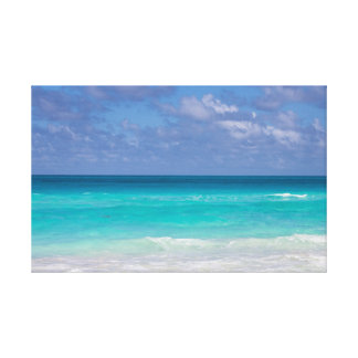 Beautiful blue ocean of the Caribbeans Canvas Print
