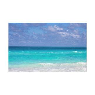 Beautiful blue ocean of the Caribbeans Canvas Print