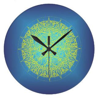 Beautiful Blue Oriental Design Clocks
