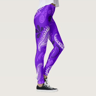 Beautiful Blue Pattern Design Leggings