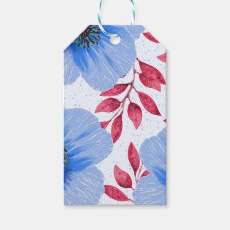 Beautiful Blue Poppy Flowers Pattern
