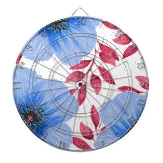 Beautiful Blue Poppy Flowers Pattern Dartboard