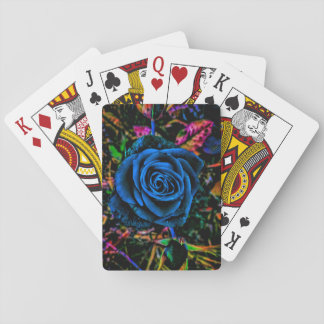 Beautiful Blue Rose Playing Cards