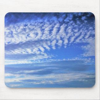 beautiful blue sky clouds mousepad