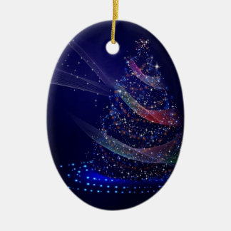 Beautiful Blue Tree Ceramic Ornament