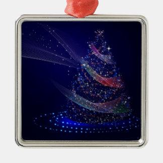 Beautiful Blue Tree Metal Ornament