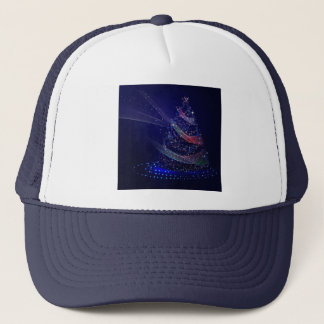 Beautiful Blue Tree Trucker Hat