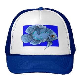 Beautiful Blue Tropical Oscar Fish Trucker Hat