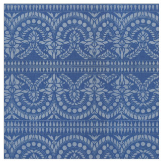 beautiful blue Victorian decor print Fabric