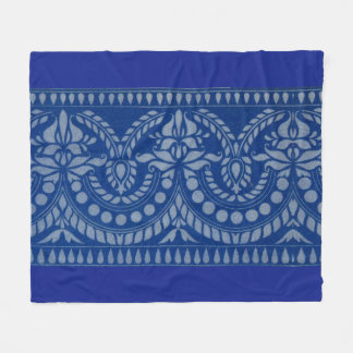 beautiful blue Victorian decor print Fleece Blanket