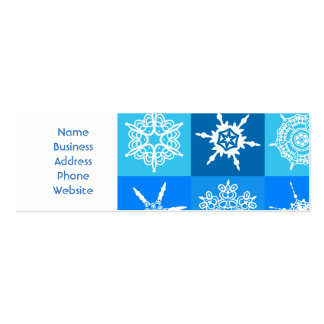 Beautiful blue white Abstract Art Ice Cubes Pack Of Skinny Business Cards