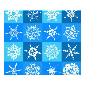 Beautiful blue white Abstract Art Ice Cubes Photo Art