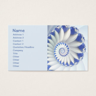 Beautiful Blue & White Sea Shell Fine Fractal Art Business Card