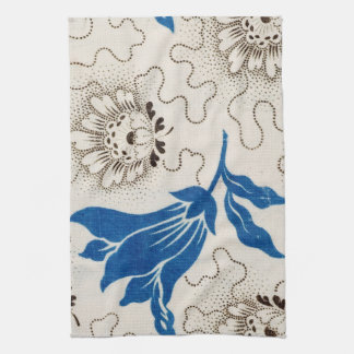 Beautiful Blue with Stippled Floral Print | Towels