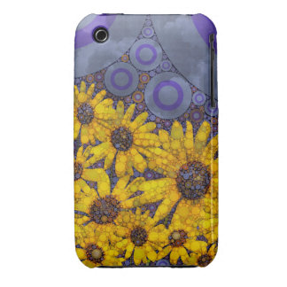 Beautiful Blue Yellow Sunflowers Abstract iPhone 3 Case-Mate Case