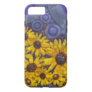 Beautiful Blue Yellow Sunflowers Abstract iPhone 7 Plus Case